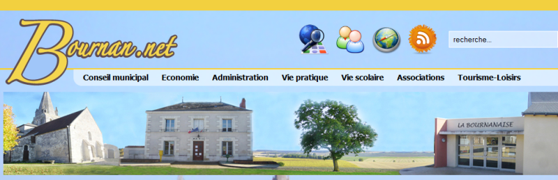 Vue du site internet de la commune de Bournan